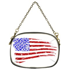 Sparkling American Flag Single Sided Evening Purse by artattack4all