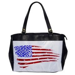 Sparkling American Flag Single Sided Oversized Handbag by artattack4all
