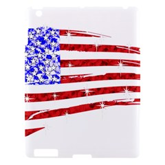 Sparkling American Flag Apple Ipad 3/4 Hardshell Case by artattack4all
