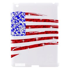 Sparkling American Flag Apple Ipad 3/4 Hardshell Case (compatible With Smart Cover) by artattack4all