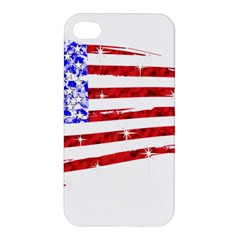 Sparkling American Flag Apple Iphone 4/4s Premium Hardshell Case by artattack4all