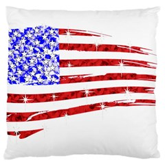 Sparkling American Flag Large Cushion Case (two Sides) by artattack4all