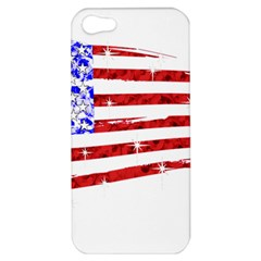 Sparkling American Flag Apple Iphone 5 Hardshell Case by artattack4all