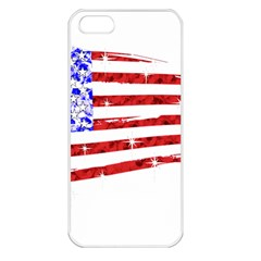 Sparkling American Flag Apple Iphone 5 Seamless Case (white) by artattack4all