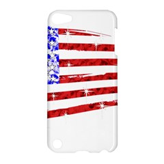 Sparkling American Flag Apple Ipod Touch 5 Hardshell Case by artattack4all