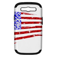 Sparkling American Flag Samsung Galaxy S Iii Hardshell Case (pc+silicone) by artattack4all