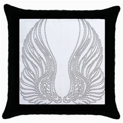 Angel Bling Wings Black Throw Pillow Case
