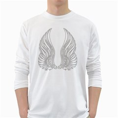 Angel Bling Wings White Long Sleeve Man''s T Shirt by artattack4all