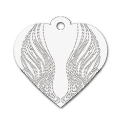 Angel Bling Wings Single Sided Dog Tag (heart) by artattack4all