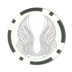 Angel Bling Wings Poker Chip by artattack4all