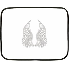Angel Bling Wings Twin Sided Mini Fleece Blanket by artattack4all