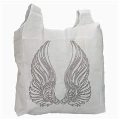 Angel Bling Wings Single Sided Reusable Shopping Bag by artattack4all