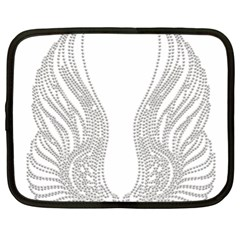 Angel Bling Wings 13  Netbook Case by artattack4all
