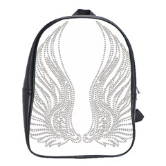 Angel Bling Wings Large School Backpack by artattack4all