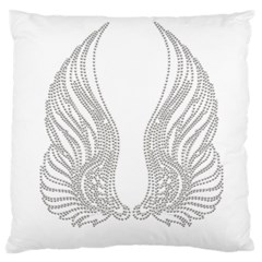 Angel Bling Wings Large Cushion Case (two Sides) by artattack4all