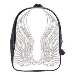 Angel Bling Wings School Bag (xl) by artattack4all