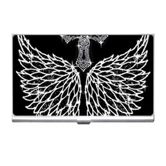 Bling Wings And Cross Business Card Holder by artattack4all