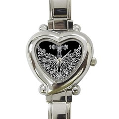 Bling Wings And Cross Classic Elegant Ladies Watch (heart) by artattack4all