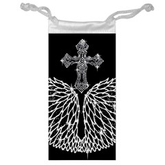 Bling Wings And Cross Glasses Pouch