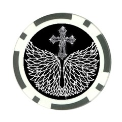Bling Wings And Cross 10 Pack Poker Chip by artattack4all