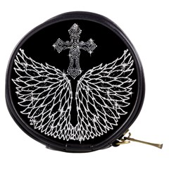 Bling Wings And Cross Mini Makeup Case by artattack4all