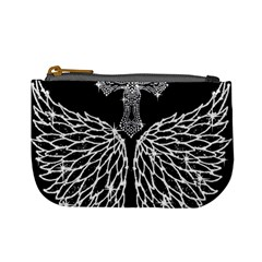 Bling Wings And Cross Coin Change Purse by artattack4all