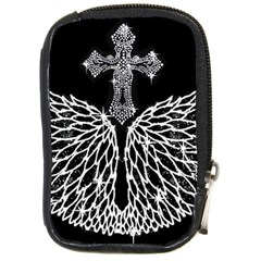 Bling Wings And Cross Digital Camera Case by artattack4all
