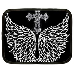 Bling Wings And Cross 13  Netbook Case by artattack4all