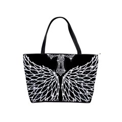 Bling Wings And Cross Large Shoulder Bag by artattack4all