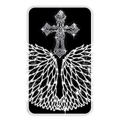 Bling Wings And Cross Card Reader (rectangle) by artattack4all