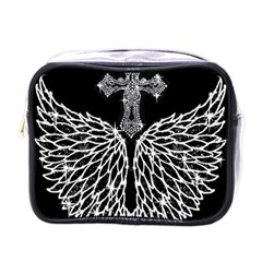 Bling Wings And Cross Single Sided Cosmetic Case by artattack4all