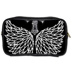 Bling Wings And Cross Twin Sided Personal Care Bag by artattack4all