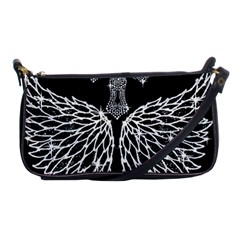 Bling Wings And Cross Evening Bag by artattack4all