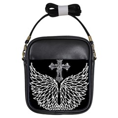 Bling Wings And Cross Kids  Sling Bag by artattack4all