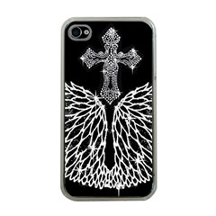 Bling Wings And Cross Apple Iphone 4 Case (clear) by artattack4all