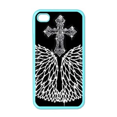Bling Wings And Cross Apple Iphone 4 Case (color) by artattack4all