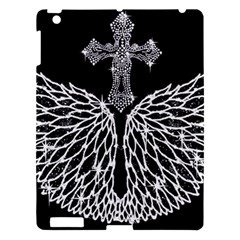 Bling Wings And Cross Apple Ipad 3/4 Hardshell Case by artattack4all