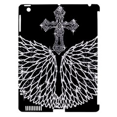 Bling Wings And Cross Apple Ipad 3/4 Hardshell Case (compatible With Smart Cover) by artattack4all