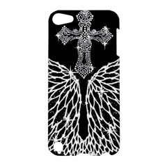 Bling Wings And Cross Apple Ipod Touch 5 Hardshell Case by artattack4all