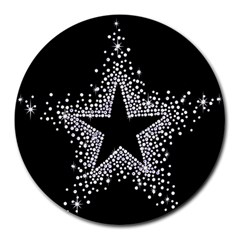 Sparkling Bling Star Cluster 8  Mouse Pad (round) by artattack4all