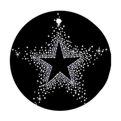 Sparkling Bling Star Cluster Ceramic Ornament (round) by artattack4all