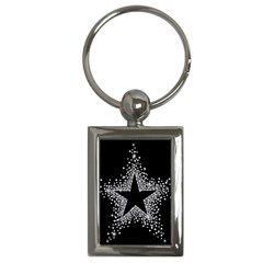 Sparkling Bling Star Cluster Key Chain (rectangle)
