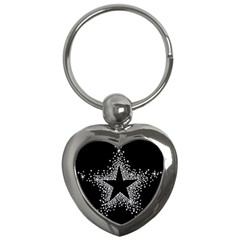 Sparkling Bling Star Cluster Key Chain (heart) by artattack4all