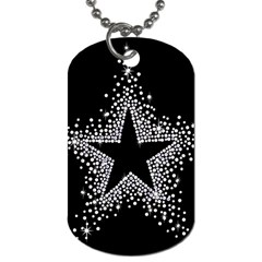 Sparkling Bling Star Cluster Twin Sided Dog Tag by artattack4all