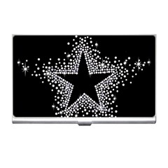 Sparkling Bling Star Cluster Business Card Holder by artattack4all