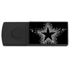 Sparkling Bling Star Cluster 4gb Usb Flash Drive (rectangle) by artattack4all