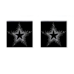 Sparkling Bling Star Cluster Square Cuff Links by artattack4all