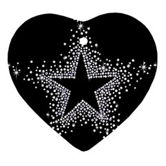 Sparkling Bling Star Cluster Heart Ornament (two Sides) by artattack4all