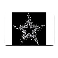 Sparkling Bling Star Cluster Small Door Mat by artattack4all