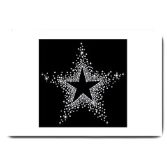 Sparkling Bling Star Cluster Large Door Mat by artattack4all